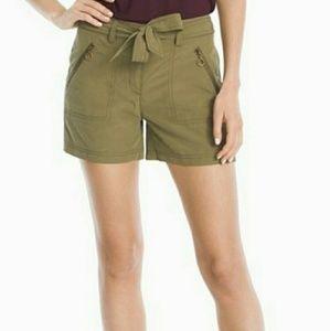 NWT White House Black Market Green Shorts Size 4
